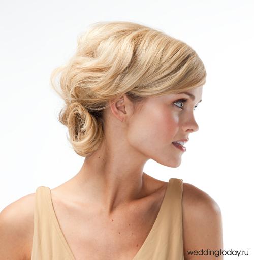 Вечерние причёски на волосы средней длины своими